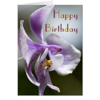 De Kaart van de Verjaardag van de orchidee