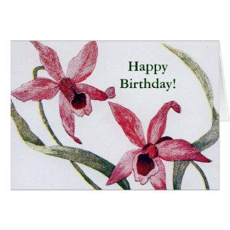 De Kaart van de Verjaardag van de Orchidee van