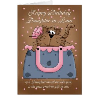 De Kaart van de Verjaardag van de schoondochter -
