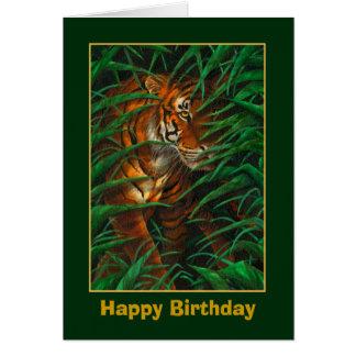 De Kaart van de Verjaardag van de tijger