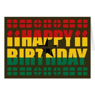 De Kaart van de Verjaardag van de Vlag van Ghana