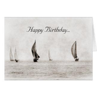 De Kaart van de Verjaardag van de zeilboot