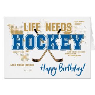 De Kaart van de Verjaardag van het hockey - het