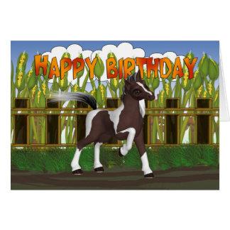 De Kaart van de Verjaardag van het pony - de Kaart