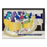 De Kaart van de Verjaardag van Jongg New York van