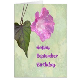 De Kaart van de Verjaardag van september met de