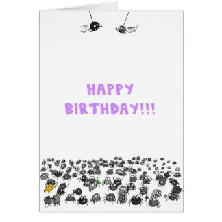 De Kaart van de Verjaardag van spinnen