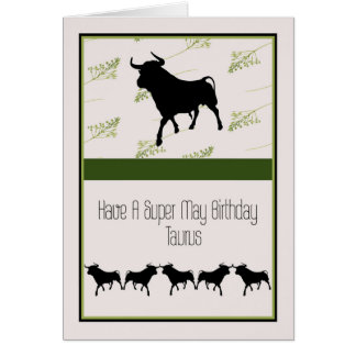De Kaart van de verjaardag voor van de Stier 20