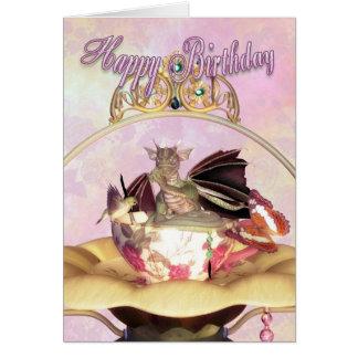 De Kaart van de verjaardag - Zoemende Vogel van de