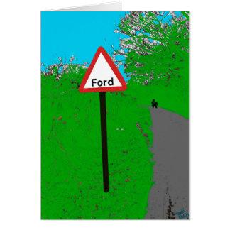 De Kaart van de Verkeersteken van Ford