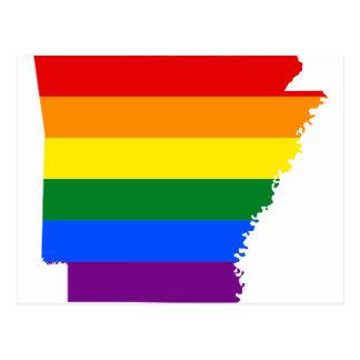 De Kaart van de Vlag van Arkansas LGBT
