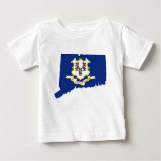De Kaart van de vlag van Connecticut Baby T Shirts