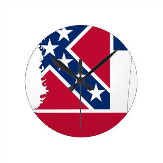 De Kaart van de vlag van de Mississippi Ronde Klok