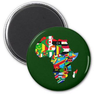 De Kaart van de vlag van de Vlaggen van Afrika - d Magneet
