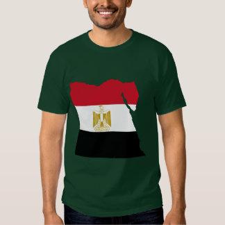 De Kaart van de Vlag van Egypte Tshirt
