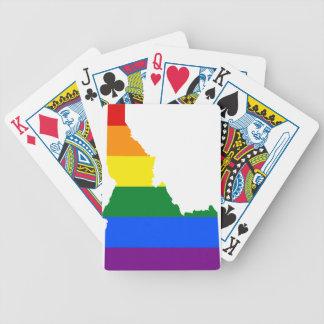 De Kaart van de Vlag van Idaho LGBT
