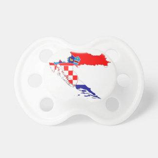 De Kaart van de Vlag van Kroatië Baby Speentje