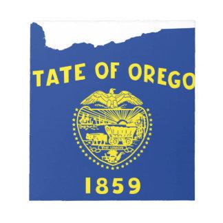 De Kaart van de vlag van Oregon Notitieblok