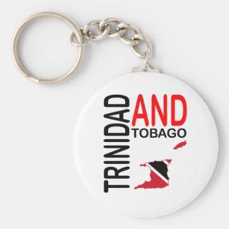 De Kaart van de Vlag van Trinidad en van Tobago Sleutelhanger