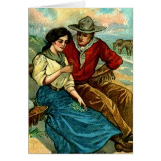 De Kaart van de Vrijage van de Cowboy van de
