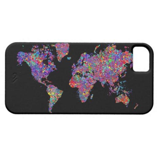 De Kaart van de wereld, het Schilderen van de Acti iPhone 5 Hoesjes