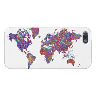 De Kaart van de wereld, het Schilderen van de Acti iPhone 5 Covers
