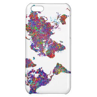 De Kaart van de wereld, het Schilderen van de Acti Hoesje Voor iPhone 5C