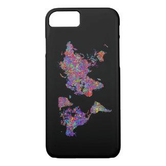 De Kaart van de wereld, het Schilderen van de iPhone 7 Hoesje