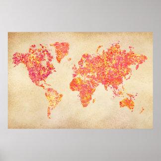 De Kaart van de wereld, het Schilderen van de Poster