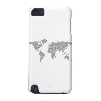 De kaart van de wereld iPod touch 5G hoesje