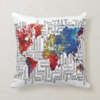 Gepersonaliseerde wereld kussens - Thuis kussens van de wereld ...