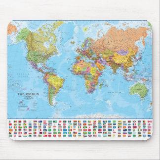 De Kaart van de wereld Mousepad/Mousemat Muismat