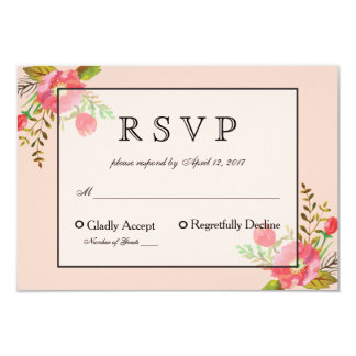 De Kaart van de wijn en van het Huwelijk RSVP van 8,9x12,7 Uitnodiging Kaart