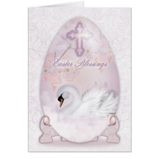 De Kaart van de Zegen van Pasen met Decoratie