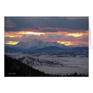 De Kaart van de Zonsondergang van de Berg van