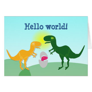 De Kaart van Dino Baby Egg Hello World van de