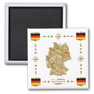De Kaart van Duitsland + De Magneet van vlaggen