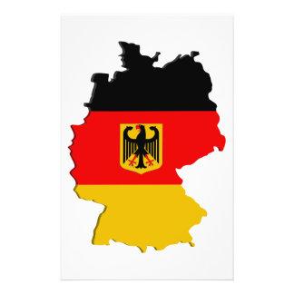 De kaart van Duitsland Flyer 14 X 21,6 Cm