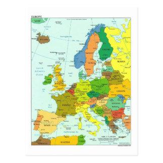 De kaart van Europa Briefkaart