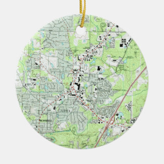 De Kaart van Georgië van Roswell (1992) Rond Keramisch Ornament