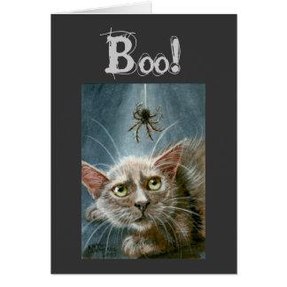 De Kaart van Halloween, Kat en Spin, Boe-geroep!