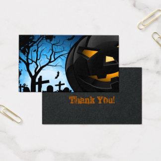 De Kaart van Halloween Visitekaartjes