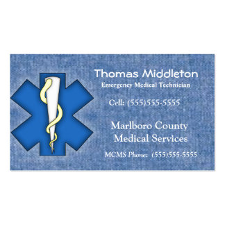 De Kaart van het Contact EMS/EMT Visitekaartje
