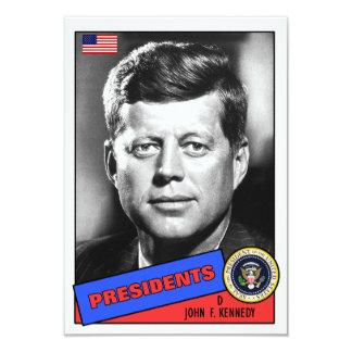De Kaart van het Honkbal van John F. Kennedy 8,9x12,7 Uitnodiging Kaart