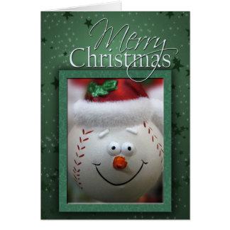 De Kaart van het Honkbal van Kerstmis