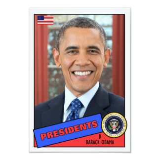 De Kaart van het Honkbal van Obama van Barack