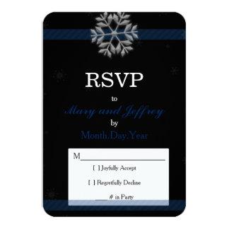 De Kaart van het Huwelijk RSVP van de sneeuwvlok 8,9x12,7 Uitnodiging Kaart