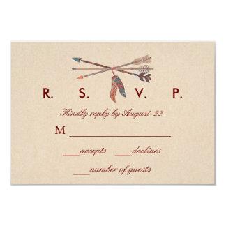 De Kaart van het Huwelijk RSVP van de Vanger van 8,9x12,7 Uitnodiging Kaart