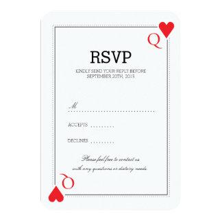 De Kaart van het Huwelijk RSVP van het casino 8,9x12,7 Uitnodiging Kaart