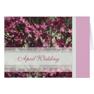 De Kaart van het Huwelijk van april